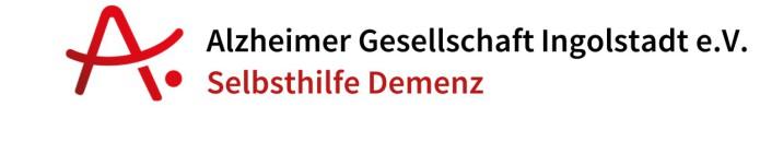 Alzheimer Gesellschaft Ingolstadt Selbsthilfe Demenz